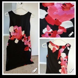 Size 2 black floral dress